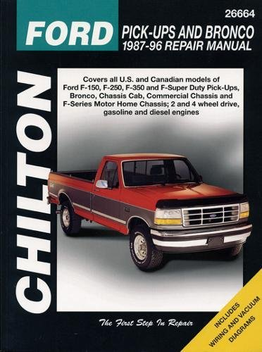 Ford Pick-ups and Bronco (1987-96): Chilton's Automotives Editorial; Chilton Book Company; Chilton