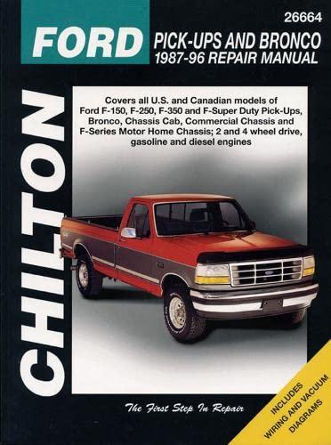 9780801988288 chilton s ford pick ups and bronco 1987 96 repair rh abebooks com 1996 ford bronco service manual pdf 1990 ford bronco service manual pdf
