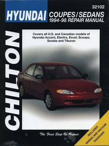 9780801989537: Chilton's Hyundai: Coupes/Sedans 1994-98 Repair Manual
