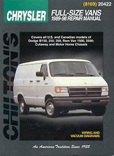 9780801989667: Dodge Vans, 1989-98 (Chilton total car care)