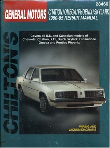 9780801990724: General Motors Citation, Omega, Phoenix, and Skylark, 1980-1985 Repair Manual (Chilton's Total Car Care Repair Manual)