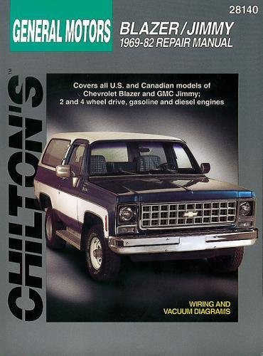 9780801990779: Chevrolet Blazer and Jimmy, 1969-82 (Chilton Total Car Care Series Manuals)