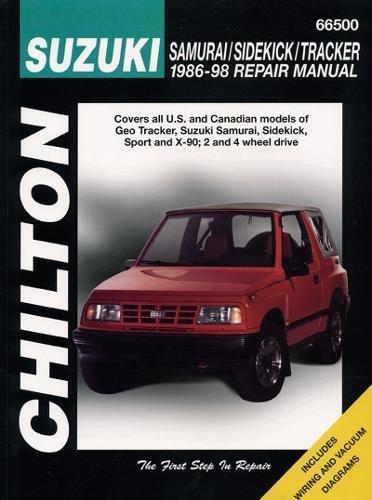 9780801990885: Suzuki Samurai, Sidekick, and Tracker, 1986-98 (Chilton Total Car Care)