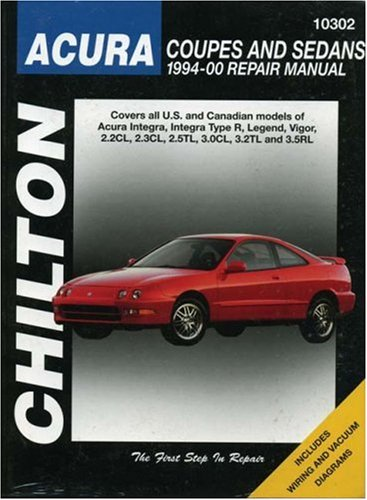 9780801990946: Acura Coupes and Sedans, 1994-00 (Chilton Total Car Care Series Manuals)