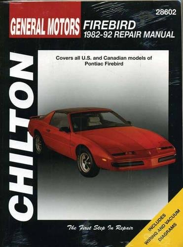9780801991004: Pontiac Firebird, 1982-92 (Chilton total car care)