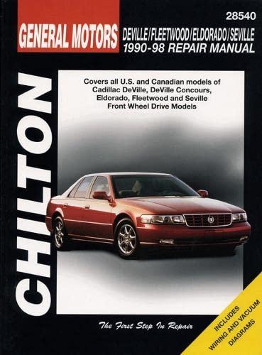 9780801991042: Cadillac DeVille, Fleetwood, Eldorado, Seville, 1990-1998 (Chilton's Total Car Care Repair Manual)