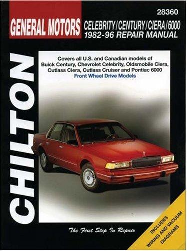 9780801991080: GM Celebrity, Century, Ciera, and 6000, 1982-96 (Chilton total car care)