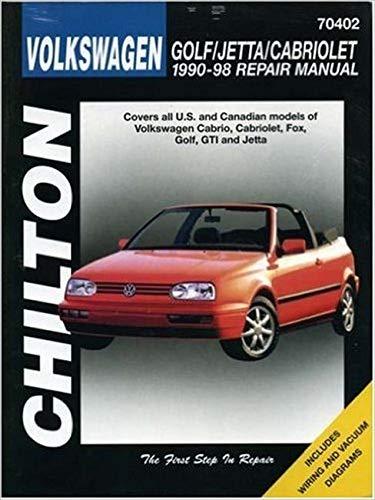 9780801991226: Chilton's 1990-98 Volkswagen Repair Manual: Golf, Jetta, Cabriolet