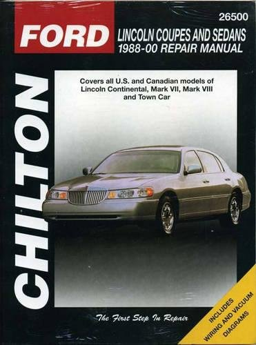 Lincoln Coupes and Sedans, 1988-00 (Haynes Repair Manuals) (0801993148) by Chilton