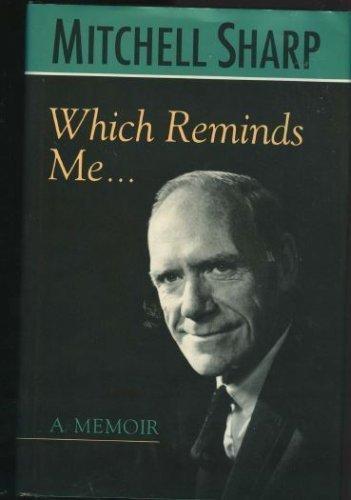 9780802005458: Which Reminds Me: A Memoir