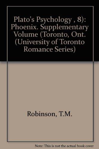 9780802006356: Plato S Psychology (2nd Ed.) (University of Toronto Romance Series)