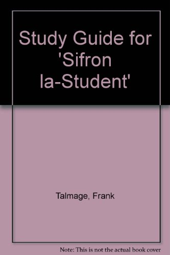 9780802018298: Study Guide for 'Sifron la-Student'