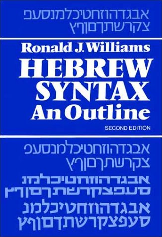9780802022189: Hebrew Syntax: An Outline