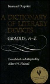 9780802027566: A Dictionary of Literary Devices: Gradus, A-Z