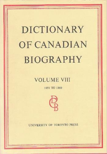 Dictionary of Canadian Biography, Vol 8: 1851 - 1860.: Halpenny, Francess