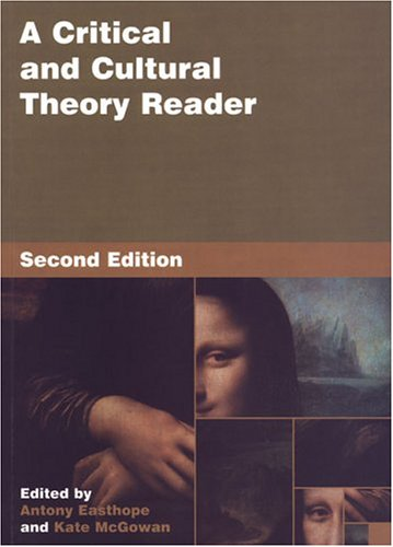 9780802038005: A Critical and Cultural Theory Reader: First Ed