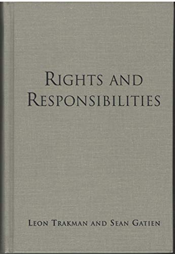 9780802046925: Rights and Responsibilities