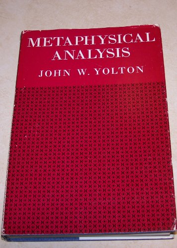 9780802051899: Metaphysical Analysis