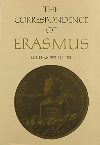 9780802056078: The Correspondence of Erasmus: Letters 993 to 1121 1519 to 1520