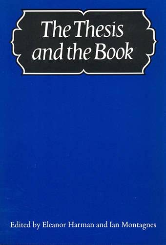 9780802062932: Thesis and the Book