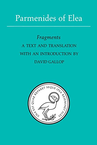 9780802069085: Parmenides of Elea: A text and translation with an introduction (Phoenix Presocractic Series)