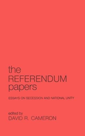 9780802082381: Referendum Papers