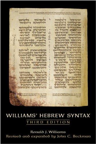 9780802094292: Williams' Hebrew Syntax, Third Edition