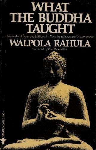 9780802100566: What the Buddha taught (An Evergreen book)