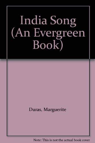 9780802100757: India Song (An Evergreen Book)