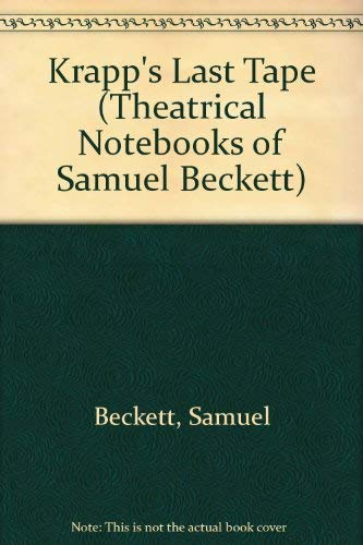 9780802110886: Krapp's Last Tape (Theatrical Notebooks of Samuel Beckett)