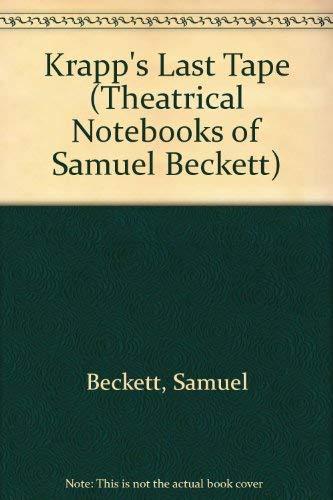 9780802110886: Krapp's Last Tape (Theatrical Notebooks of Samuel Beckett)
