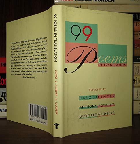 9780802115577: 99 Poems in Translation: An Anthology
