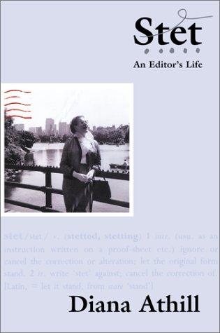 9780802116833: Stet: An Editor's Life