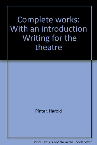 """9780802140890: Complete works: With an introduction """"Writing for the theatre"""""""