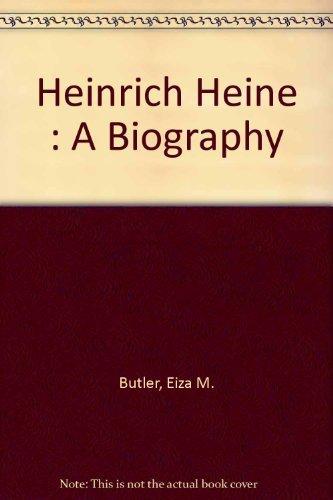 9780802202048: Heinrich Heine : A Biography