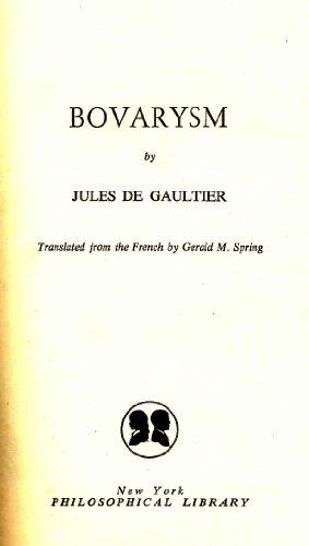 Bovarysm: Gaultier, Jules de