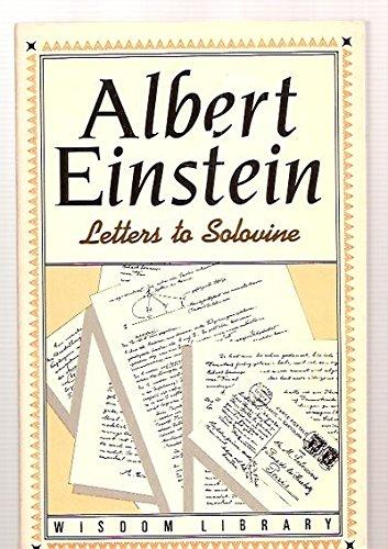 9780802225269: Letters to Solovine (Wisdom Library)