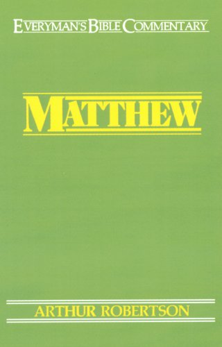 9780802402332: Matthew (Everymans Bible Commentaries)