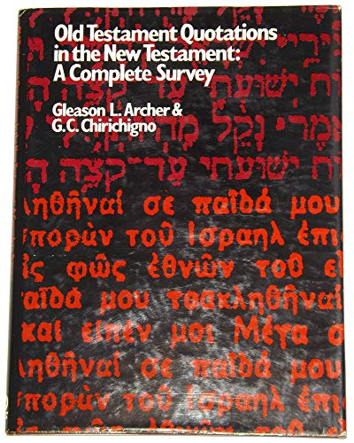 9780802402363: Old Testament Quotations in the New Testament