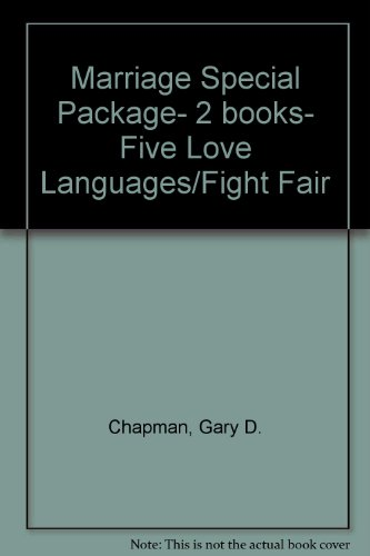Marriage Special Package- 2 books- Five Love Languages/Fight Fair (0802415075) by Chapman, Gary D.; Downs, Tim; Downs, Joy