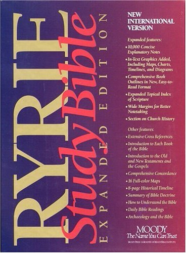 9780802438515: Ryrie Study Bible: Expanded Edition : New International Version/Red Letter Edition