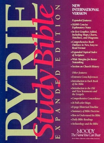 9780802438522: Ryrie Study Bible: Expanded Edition : New International Version/Red Letter Edition