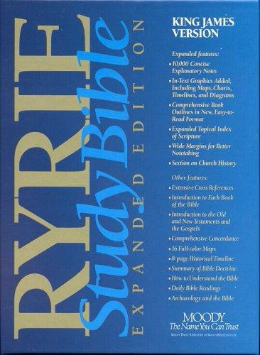 9780802438614: Ryrie Study Bible KJV Bonded Leather Black- Red Letter (Ryrie Study Bibles)
