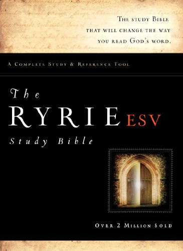 The Ryrie ESV Study Bible Bonded Leather Black Red Letter Indexed (Ryrie Study Bible ESV Version): ...