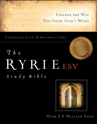 9780802475763: The Ryrie ESV Study Bible Calfskin Leather Black Red Letter