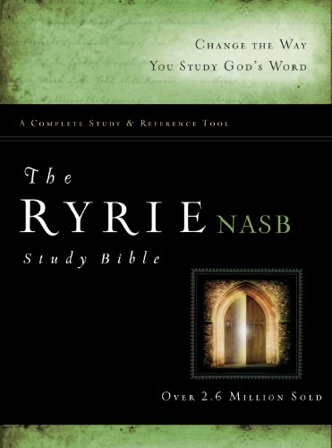 9780802484703: The Ryrie NAS Study Bible Hardcover Red Letter Indexed (New American Standard 1995 Edition)