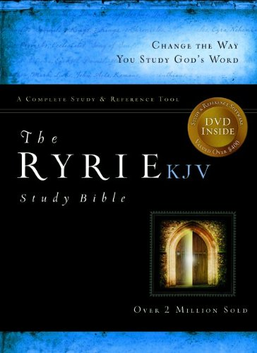 9780802489029: The Ryrie KJV Study Bible Bonded Leather Black Red Letter (Ryrie Study Bibles 2012)