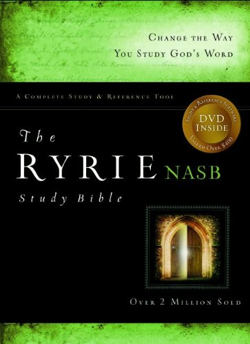 The Ryrie NAS Study Bible Genuine Leather Burgundy Red Letter Indexed: Ryrie, Charles C.