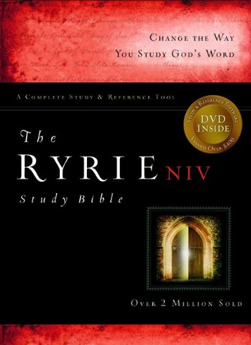 9780802489289: The Ryrie NIV Study Bible Bonded Leather Navy Red Letter