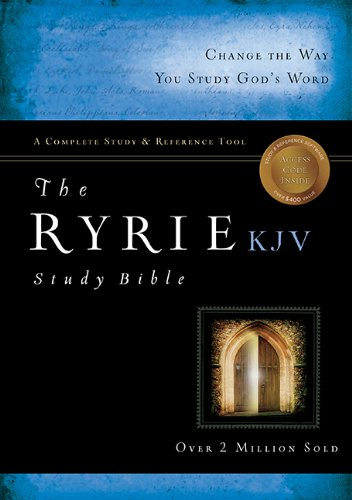 The Ryrie KJV Study Bible Genuine Leather Burgundy Red Letter Indexed (Ryrie Study Bibles 2008): ...
